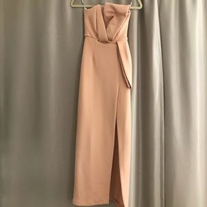 ASOS Pink Bow Gown with Slit
